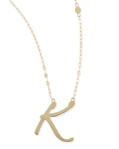 Lana 14k Gold Initial Letter Necklace, K