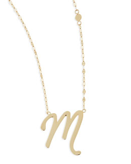 Lana 14k Gold Initial Letter Necklace, M