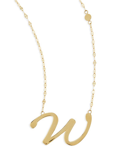 Lana 14k Gold Initial Letter Necklace, W