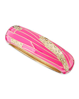 Sequin Wide Insect-Wing Bangle, Pink