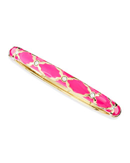 Sequin Skinny X Bangle, Pink