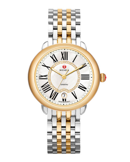 16mm Serein Diamond Dial Watch Head, Two-Tone