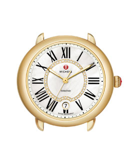 MICHELE Serein 16 Gold Plated Diamond Watch Head