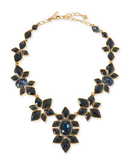 Oscar de la Renta Resin-Facet Necklace, Navy