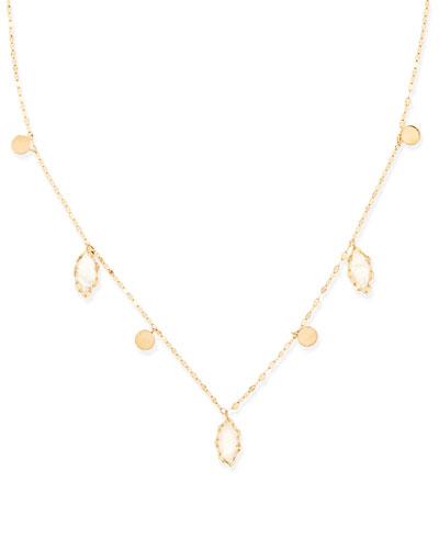 Lana Dream Gypsy 14k Gold & Moonstone Necklace