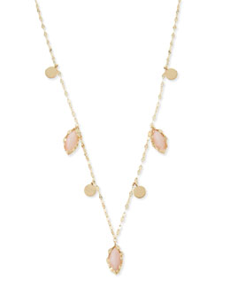 Lana 14k Gold Pink Opal Marquise Necklace