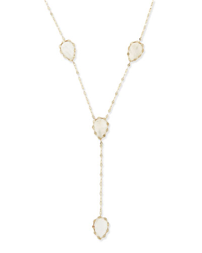 Lana Rainbow Moonstone Dream Lariat Necklace