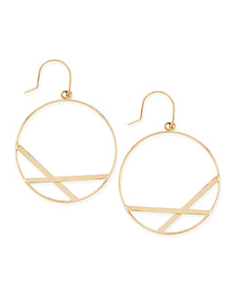 Lana 14k Small Affinity Hoop Drop Earrings