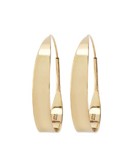 Lana 14k Small Glam Flat Hoop Earrings