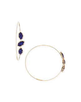 Lana Splash Magic Large Lapis Hoop Earrings