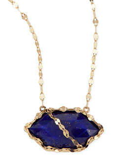 Lana Splash Lapis Hexagon Necklace