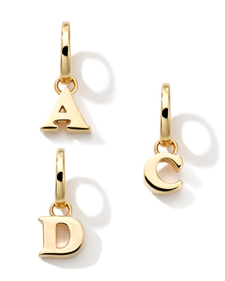 18k Yellow Gold Letter Charm