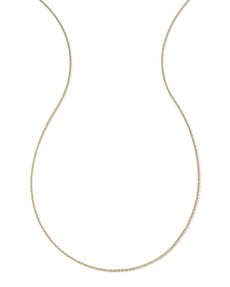 18k Yellow Gold Thick Charm Chain Necklace, 36""