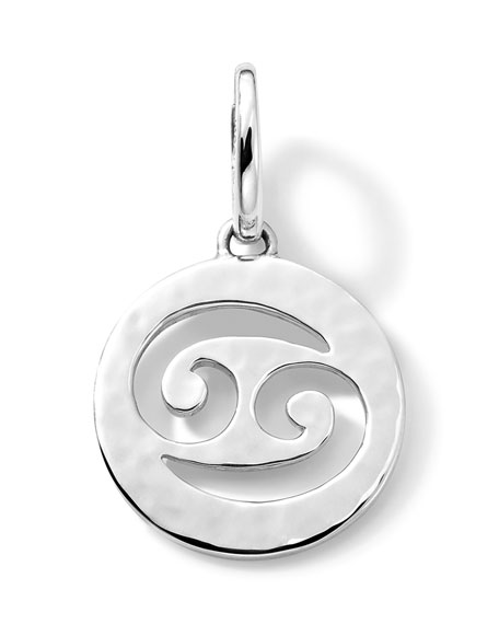 Sterling Silver Zodiac Charm, Cancer