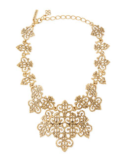 Oscar de la Renta Filigree Bib Necklace