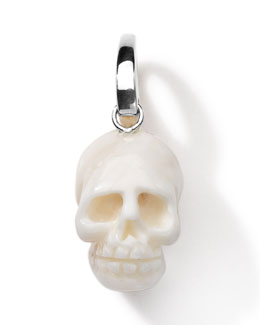 Ippolita Sterling Silver Skull Charm, White Coral
