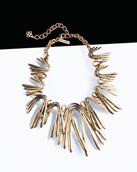 Oscar de la Renta Golden Wave Necklace