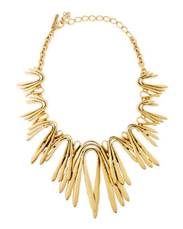 Oscar de la Renta Golden Wave Necklace