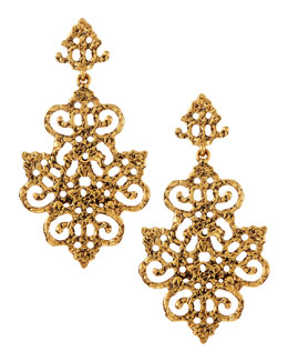 Oscar de la Renta Filigree Chandelier Earrings