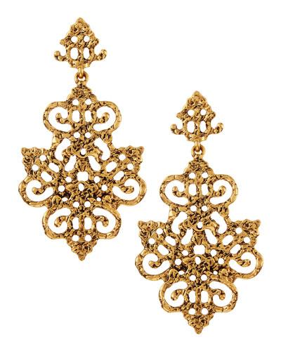 Oscar de la Renta Filigree Chandelier Earrings