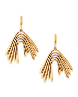 Oscar de la Renta Golden Wave Drop Earrings