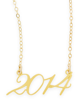 Brevity 22k Gold Plated Year 2014 Necklace