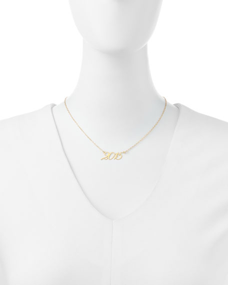 22k Gold Plated Year 2015 Necklace