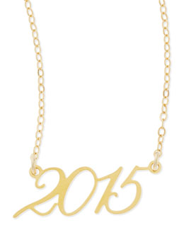Brevity 22k Gold Plated Year 2015 Necklace