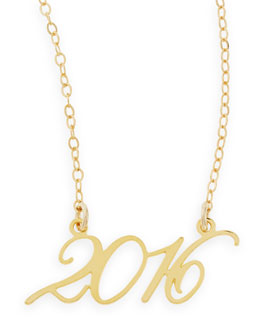 Brevity 22k Gold Plated Year 2016 Necklace