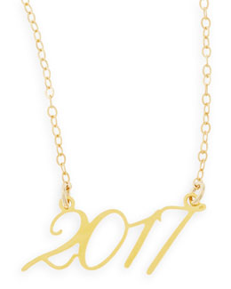 Brevity 22k Gold Plated Year 2017 Necklace