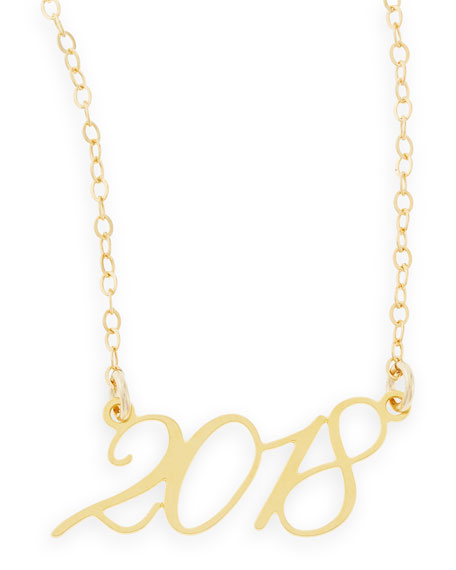 Brevity 22k Gold Plated Year 2018 Necklace
