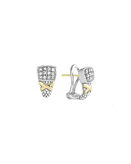 Lagos Silver & 18k Diamond Lux Small Earrings