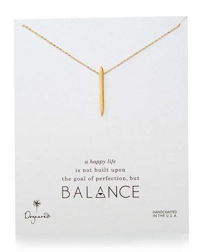 Dogeared Balance Spiky Spear Pendant Necklace