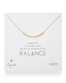 Dogeared Balance Tube Bar Necklace