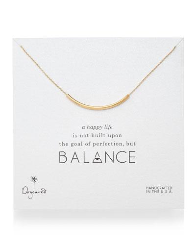 Balance Tube Bar Necklace