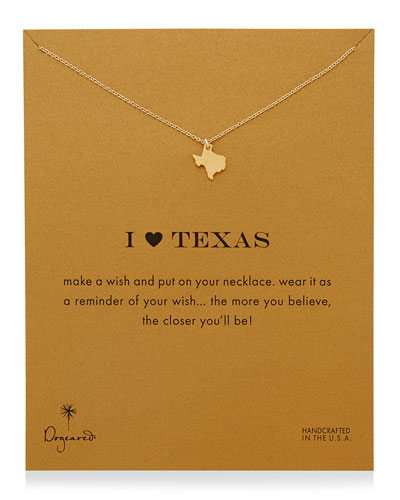 I Heart Texas Pendant Necklace