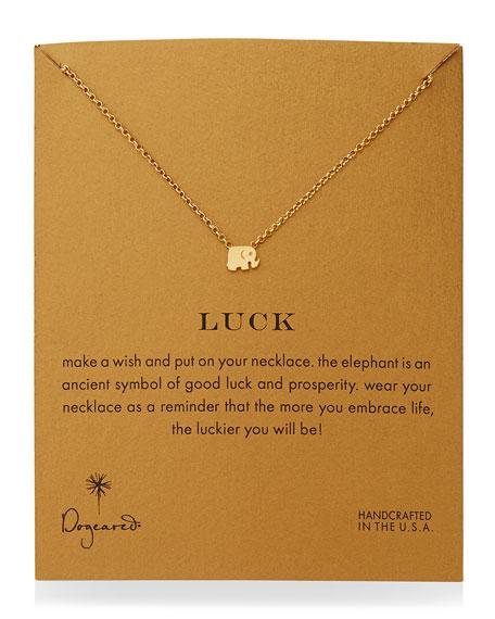Luck Elephant Pendant Necklace