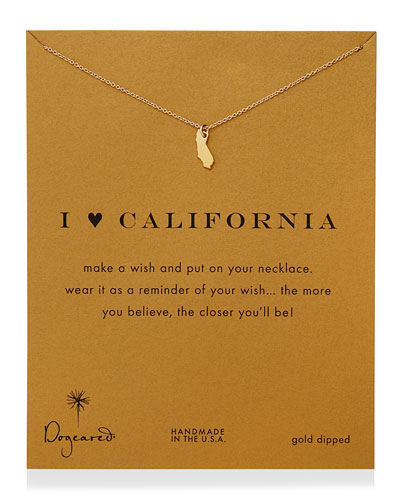 Dogeared I Heart California Pendant Necklace
