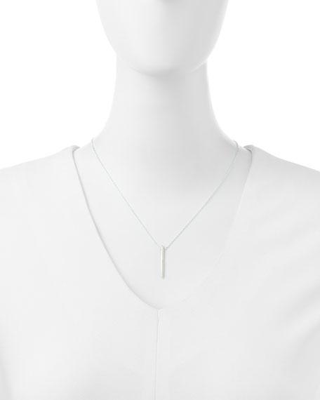 Balance Spiky Spear Necklace, Sterling Silver