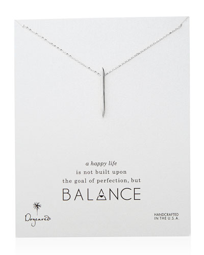 Dogeared Balance Spiky Spear Necklace, Sterling Silver
