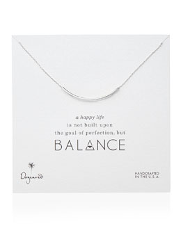 Dogeared Balance Tube Bar Necklace, Sterling Silver