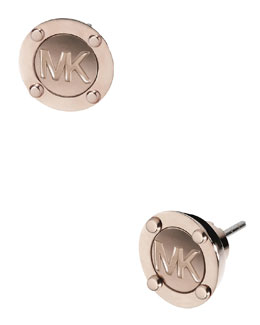 Michael Kors  Astor Logo Stud Earrings, Rose Golden