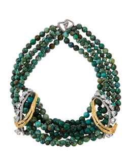 Alexis Bittar Feathered Tressage Chrysocolla Necklace
