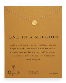 Dogeared One in a Million Gold-Dipped Necklace