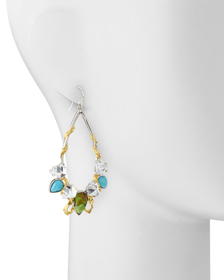 Multi-Stone Olmeca Teardrop Earrings