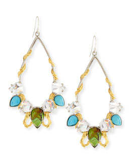 Alexis Bittar Multi-Stone Olmeca Teardrop Earrings