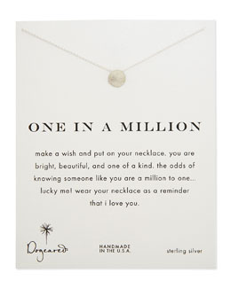 Dogeared One in a Million Silver Necklace
