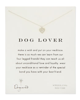 Dogeared Dog Lover Silver Necklace