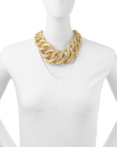 Monogram Light Horn Resin Chain Necklace