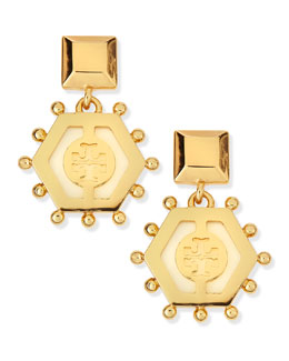 Tory Burch Caroline Drop Earrings, Ivory